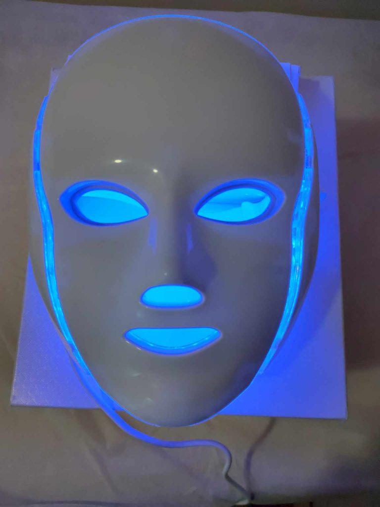 mascara led facial azul en murcia