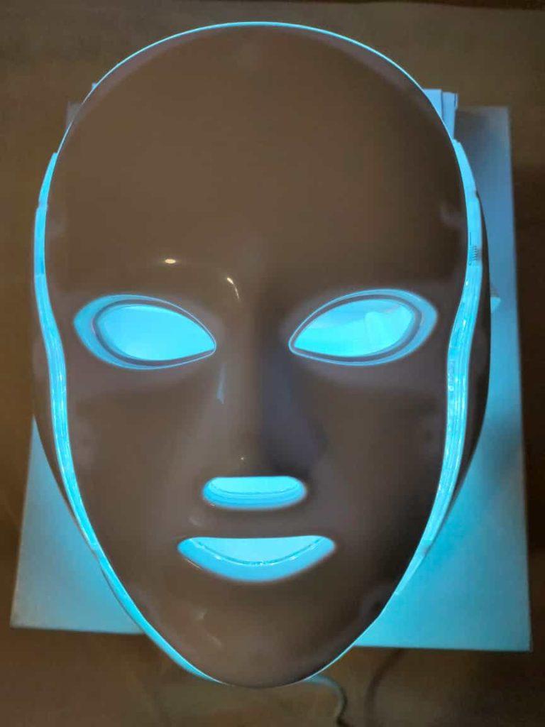 mascara led facial blanca